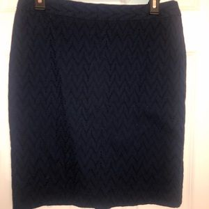 Navy banana republic skirt! Lace detailing!